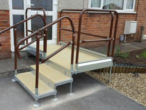 Reduced height steps
